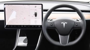 Tesla Model 3 Long Range saloon interior