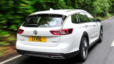 The Insignia Country Tourer is available with four-wheel drive, which improves grip in all conditions