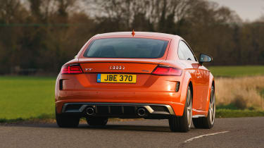 Audi TT Coupe rear action
