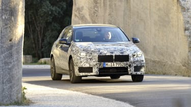 2019 BMW 1 Series pre-production front driving