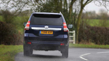 The Land Cruiser develops a fair bit of body lean when cornering, but it's off-road credentials are beyond reproach