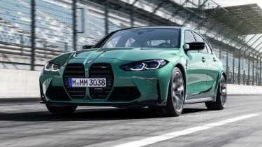 2021 BMW M3 Competition saloon - front 3/4 dynamic