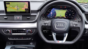 Audi interior with Virtual Cockpit