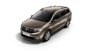 A facelifted Dacia Logan MCV estate gets subtle improvements and a rugged Stepway version with 50mm taller suspension