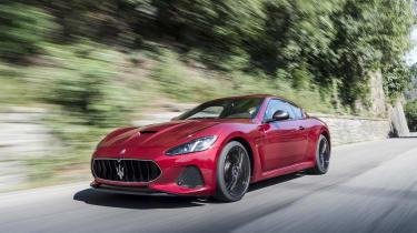 Maserati GranTurismo coupe front 3/4 tracking