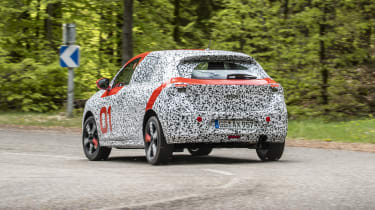 Vauxhall Corsa prototype - three quarter rear view corner