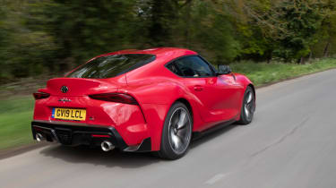 Toyota Supra coupe rear 3/4 tracking