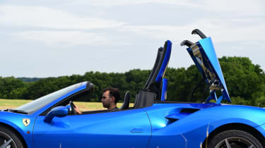 Ferrari 488 Spider convertible folding roof 1