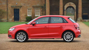 The five-door Sportback is slightly wider and taller than the three-door A1