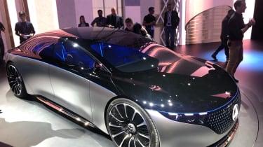Mercedes EQS electric saloon concept - RH static 3/4 shot - Frankfurt