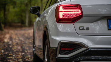 Audi Q2 SUV rear lights