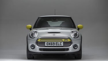 MINI Electric - front head on view