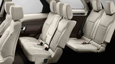 Land Rover says that There's enough room inside for seven adults - even in the third row of seats