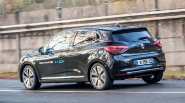 Renault Clio E-Tech Hybrid rear 3/4 tracking