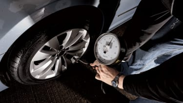 Check your tyre pressures