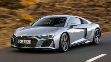 2020 Audi R8 RWD Coupe - front 3/4 dynamic view