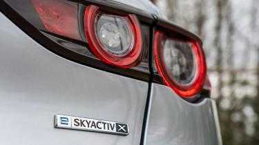 Mazda3 hatchback rear badge