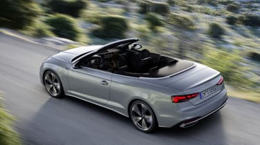 Audi A5 Cabriolet driving - top view