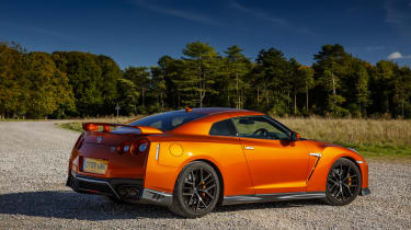 Nissan GT-R coupe rear 3/4 static