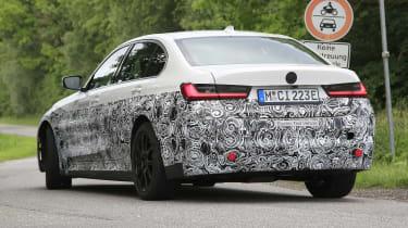 Electric BMW 3 Series prototype - rear view