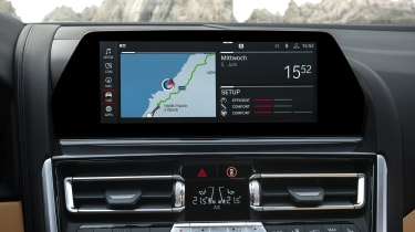BMW M8 Competition convertible - central infotainment screen