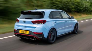 2021 Hyundai i30 N hatchback - rear 3/4 dynamic