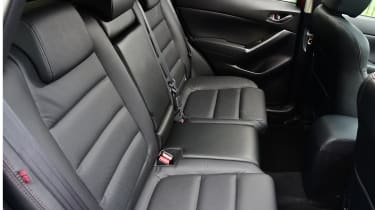 There's lots of space in the CX-5's rear seats