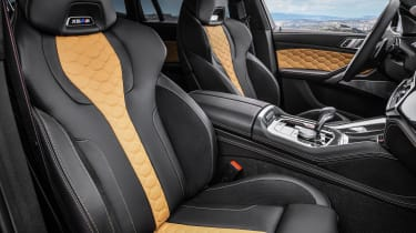 BMW X6 M Competition seats