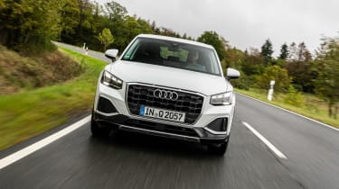 Audi Q2 SUV front driving