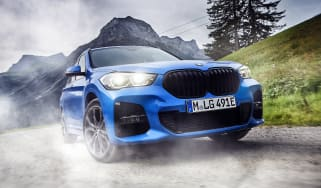 2019 BMW X1 SUV xDrive25e - front view cornering