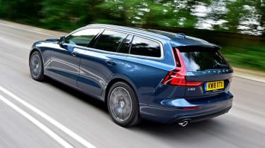 Volvo V60 estate rear 3/4 driving