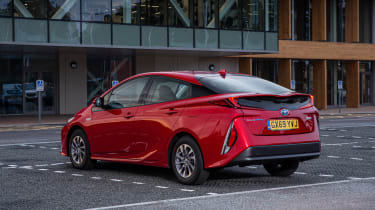 Toyota Prius Plug-in Hybrid hatchback rear 3/4 static