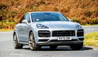 Porsche Cayenne Coupe SUV - front cornering view