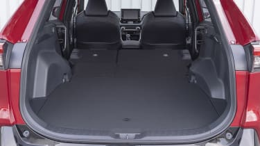 Suzuki Across SUV boot seats folded down