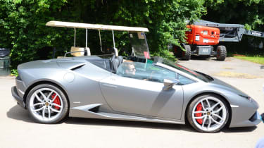 As is the convertible – Lamborghini charges around £15,000 to remove the Huracan's roof