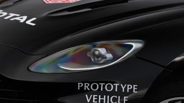 Aston Martin DBX prototype headlight - close up