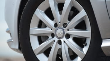 Every version of the B-Class is fitted with alloy wheels as standard, increasing in size from 16-inches