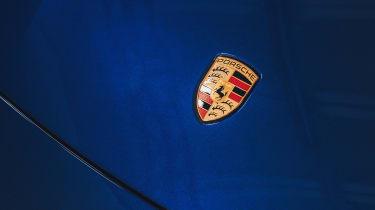 2020 Porsche Taycan - front badge close up