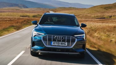 Audi e-tron SUV front tracking