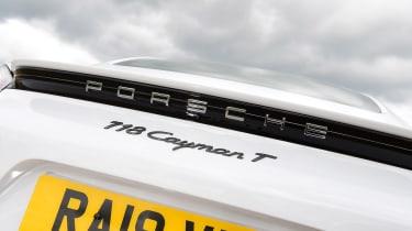 Porsche 718 Cayman coupe badge
