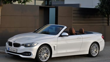 BMW 4 Series convertible front quarter static