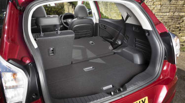 SsangYong Tivoli boot - two seats folded