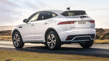 Jaguar E-Pace SUV review rear 3/4 static