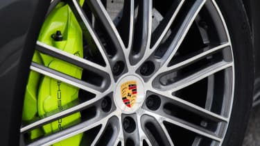 Powerful carbon-ceramic brakes come as standard
