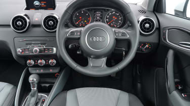 The A1's high-quality, gadget-packed interior is one of the car's biggest selling points