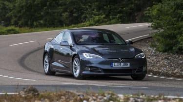 Tesla Model S - front 3/4