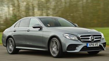 Mercedes E Class - front 3/4 dynamic view