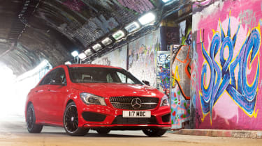 The Mercedes CLA is a stylish 'four-door coupe' based on the A-Class hatchback
