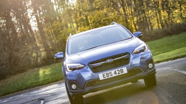 Revised headlights and a new grille make it look closer to the Subaru Levorg and Impreza in appearance