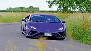 Lamborghini Huracan Evo RWD front cornering